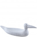 Poly-shell seagull, L36cm, B11,5cm, white-antique